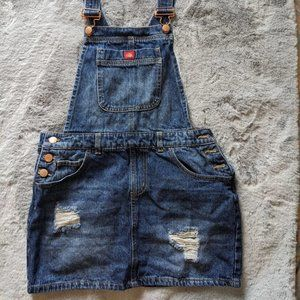 Dickies Distressed Denim Overall Skirt